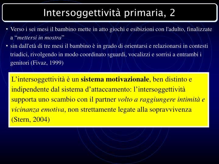 Intersoggettività primaria, 2