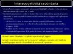 intersoggettivit secondaria