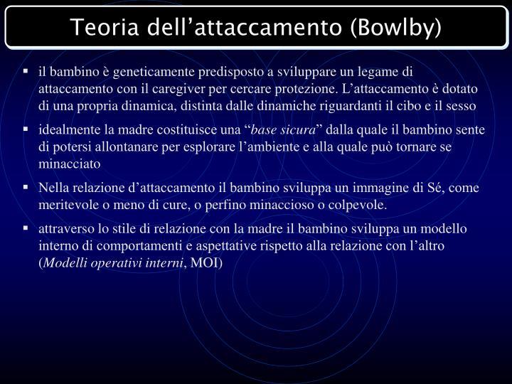 Teoria dell'attaccamento (Bowlby)
