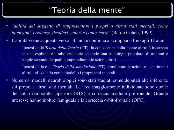 """""""Teoria della mente"""""""