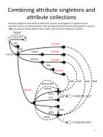 combining attribute singletons and attribute collections
