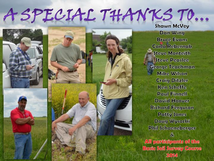 A special thanks to…