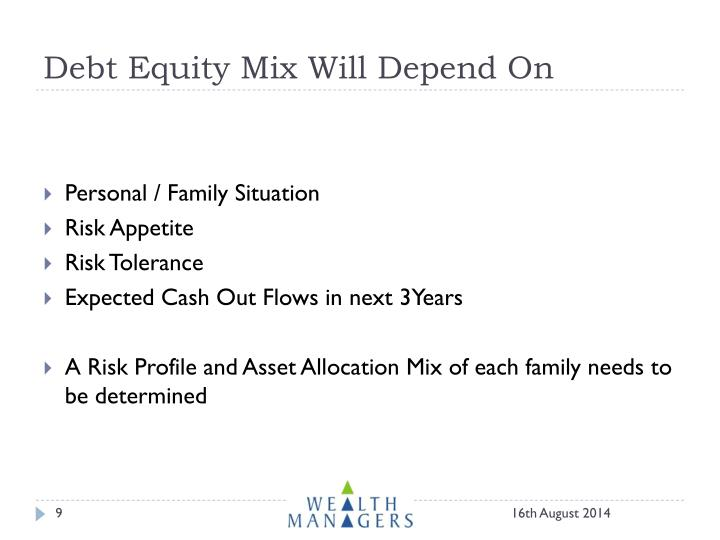 Debt Equity Mix Will Depend On