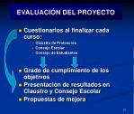 evaluaci n del proyecto
