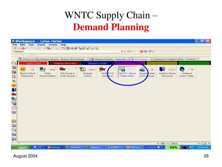 WNTC Supply Chain –
