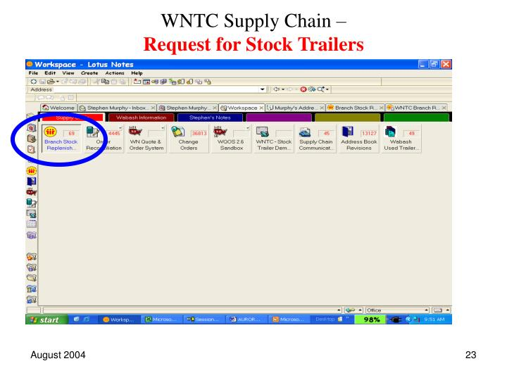 WNTC Supply Chain –