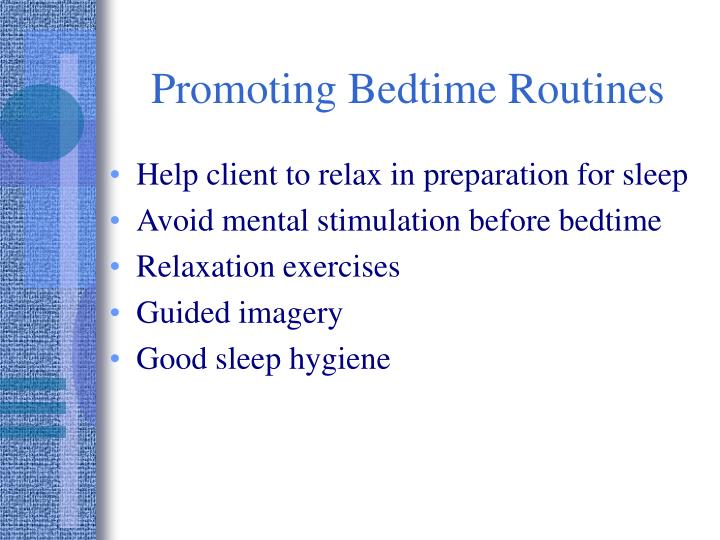 Promoting Bedtime Routines