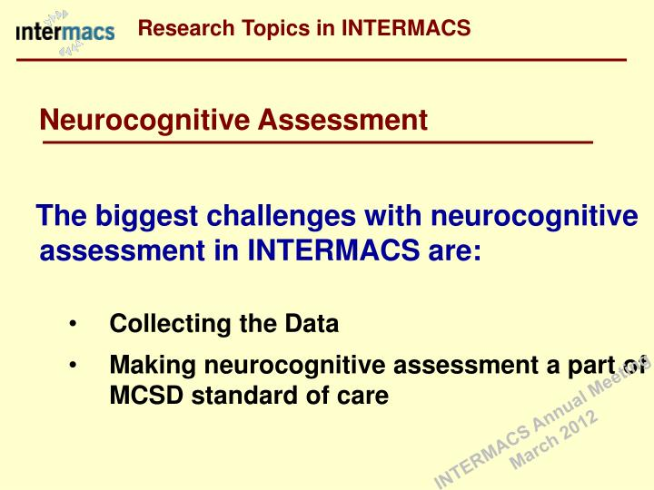Research Topics in INTERMACS