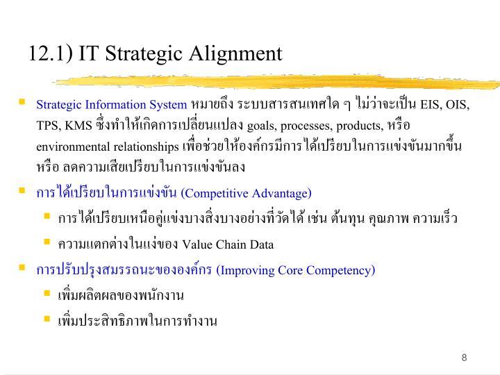 12.1) IT Strategic Alignment