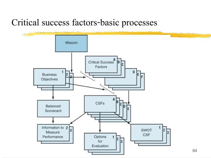 Critical success factors-basic processes