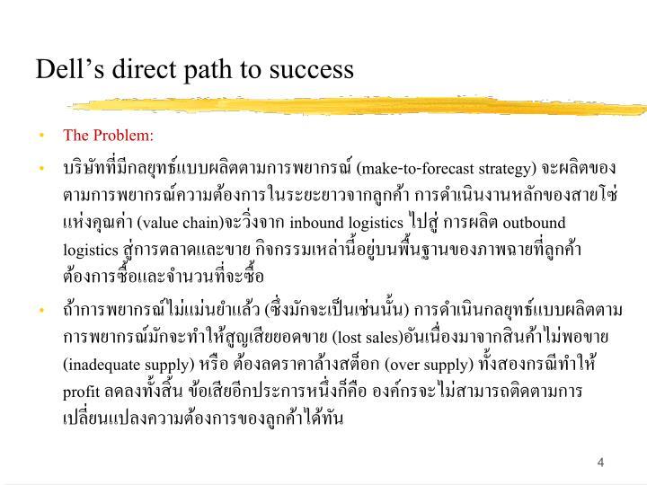 Dells direct path to success