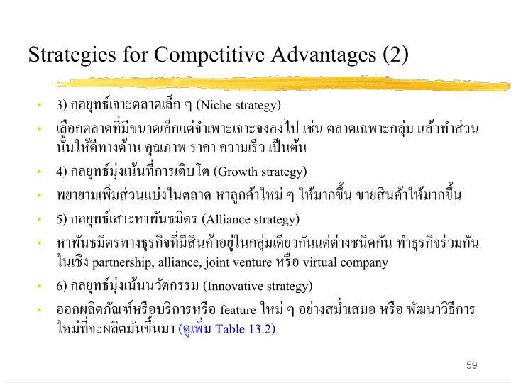 Strategies for Competitive Advantages (2)