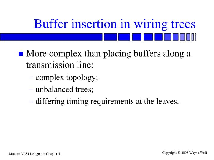 Buffer insertion in wiring trees