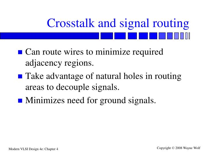 Crosstalk and signal routing