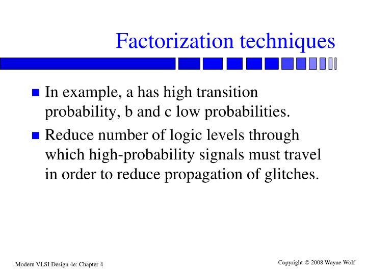 Factorization techniques