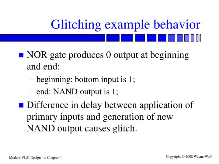 Glitching example behavior