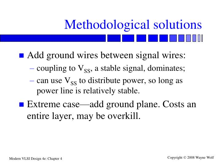 Methodological solutions