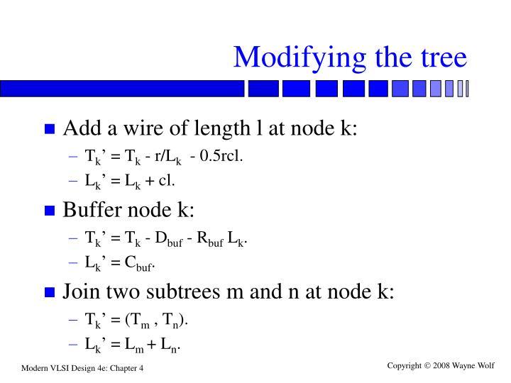 Modifying the tree