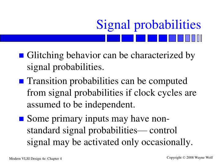Signal probabilities