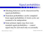signal probabilities