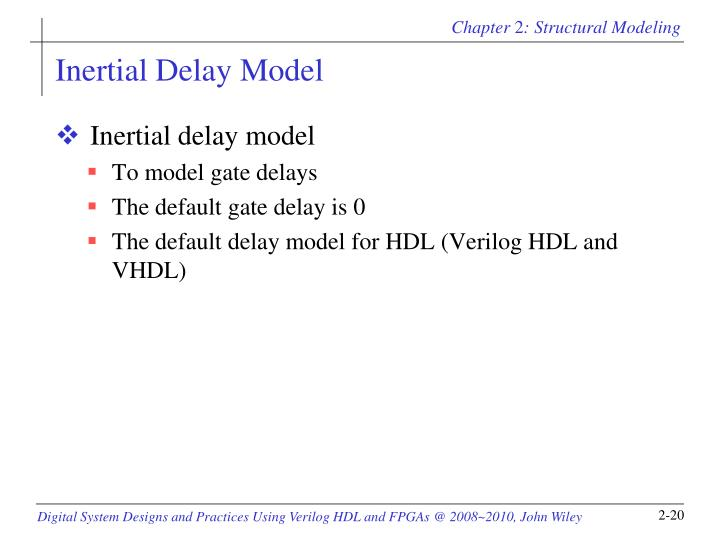 Inertial Delay Model