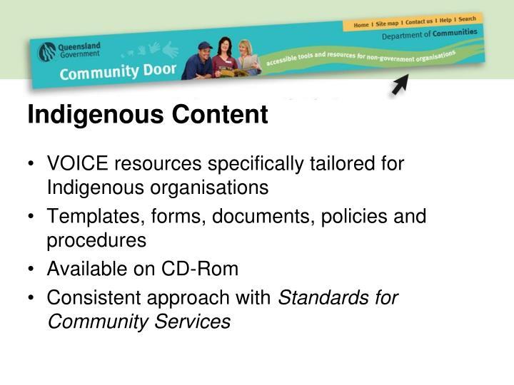 Indigenous Content