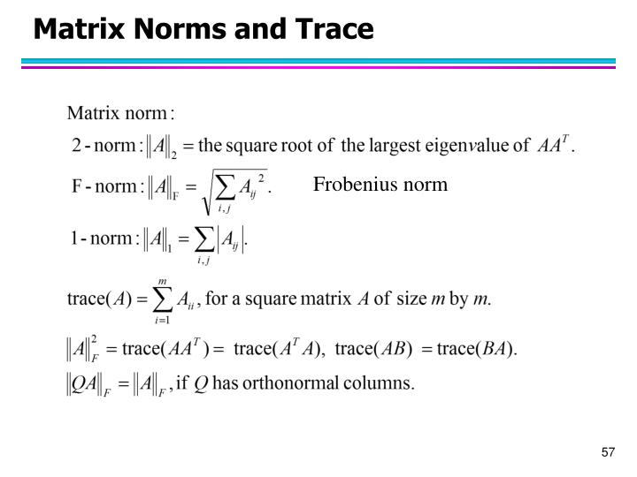 Matrix Norms and Trace