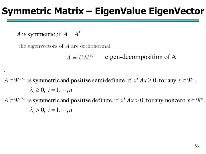 eigen-decomposition of A