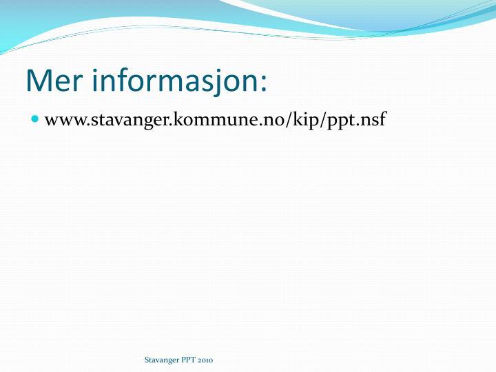 Mer informasjon: