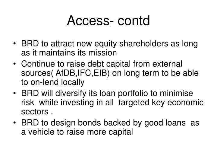 Access- contd