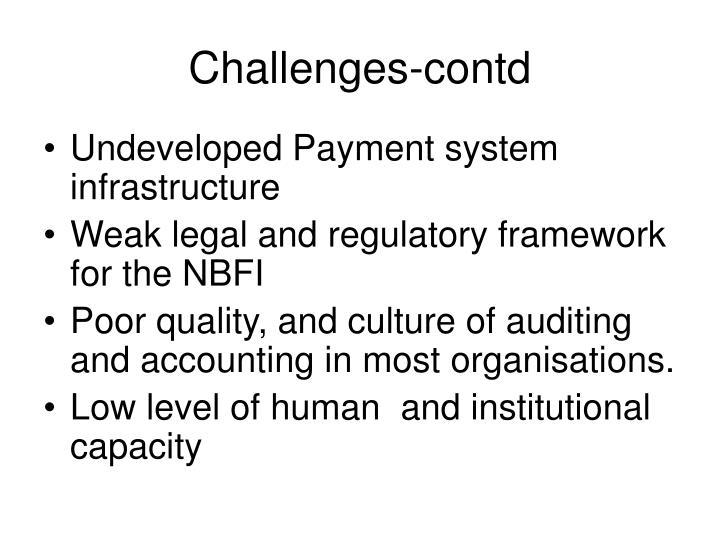 Challenges-contd