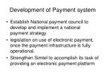 development of payment system
