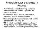 financial sector challenges in rwanda