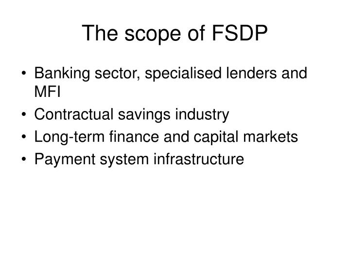 The scope of FSDP