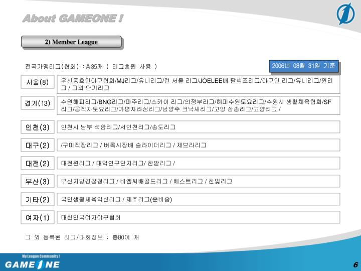 About GAMEONE !