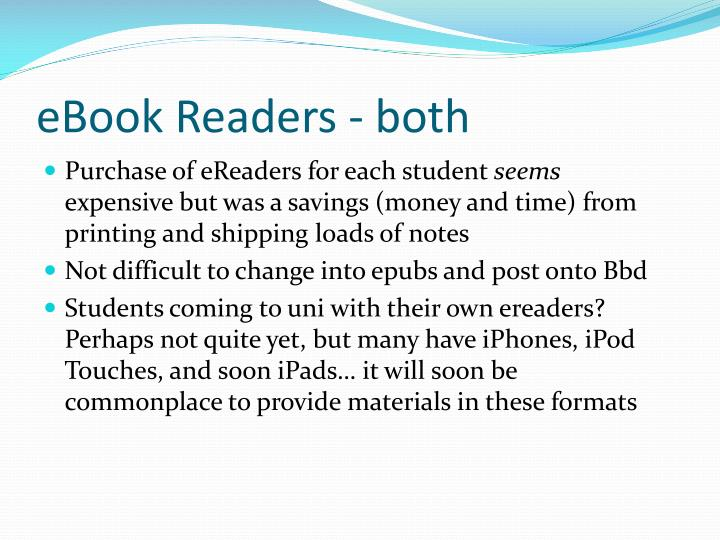 eBook Readers - both