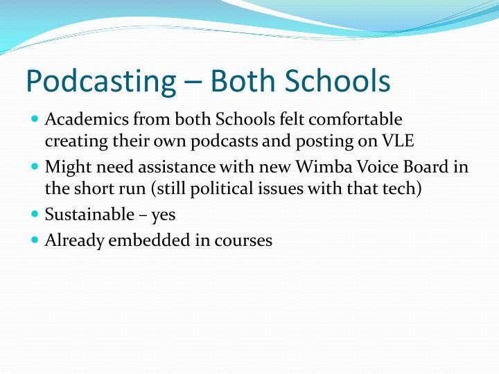 Podcasting – Both Schools