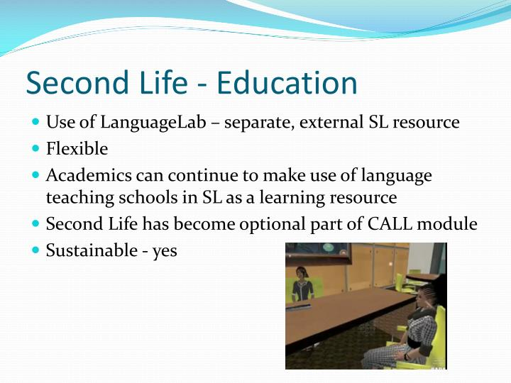 Second Life - Education