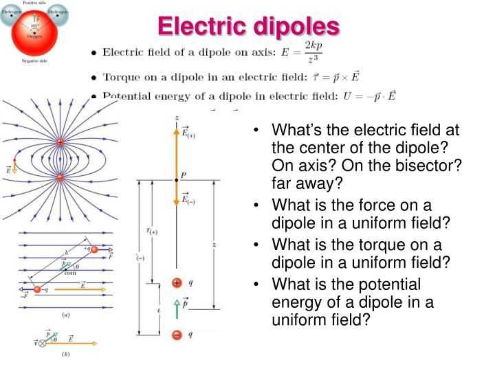 Electric dipoles