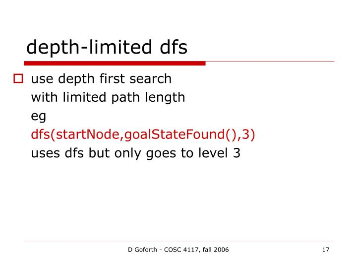 depth-limited dfs