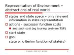 representation of environment abstractions of real world