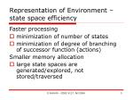 representation of environment state space efficiency