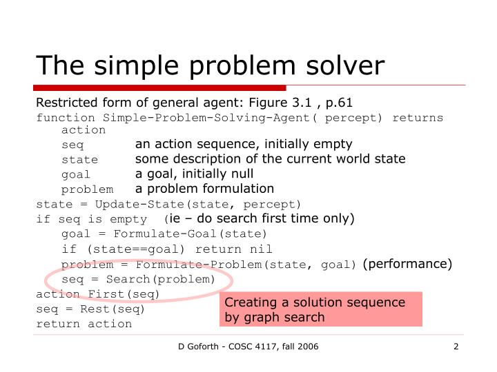 The simple problem solver