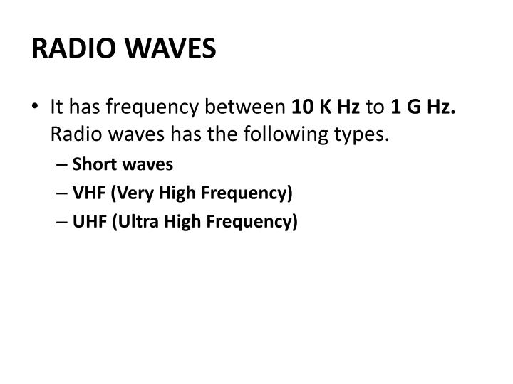 RADIO WAVES