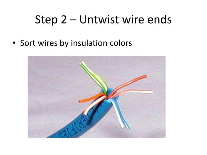 Step 2 – Untwist wire ends
