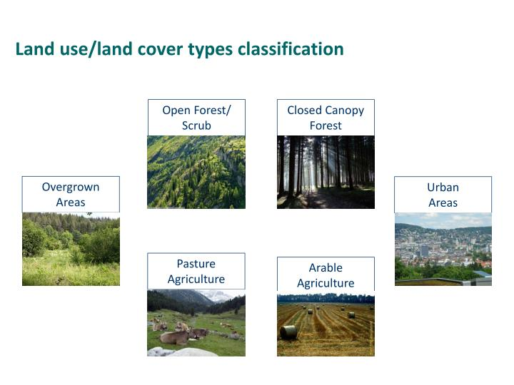 Land use/land cover types classification