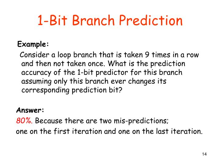1-Bit Branch Prediction