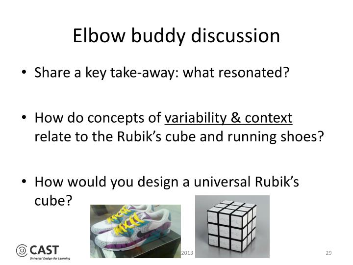 Elbow buddy discussion