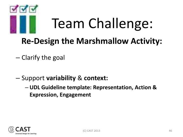 Team Challenge: