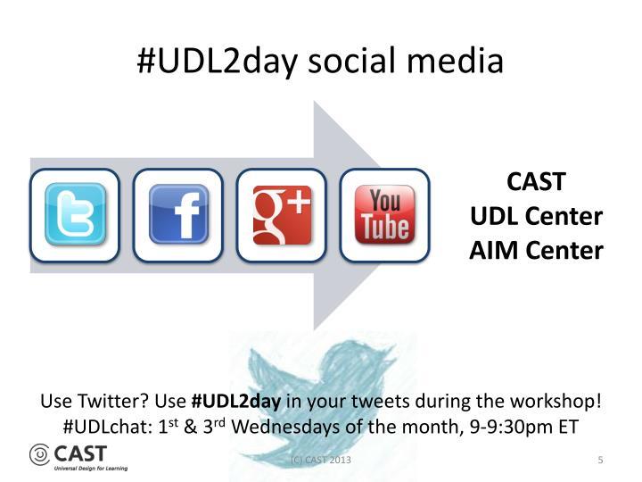 #UDL2day social media